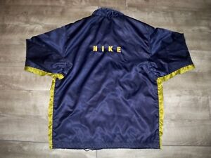 Vtg-Nike-Spellout-Made-in-Taiwan-Windbreaker-Swoosh-Coat-Jacket-Mens-Size-Xlarge