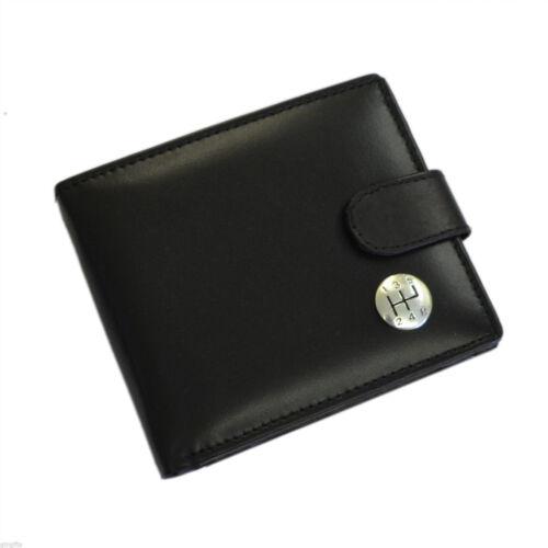 Portafoglio Pelle Nera Con Argento Leva Del Cambio Leva Del Cambio Design XLW1