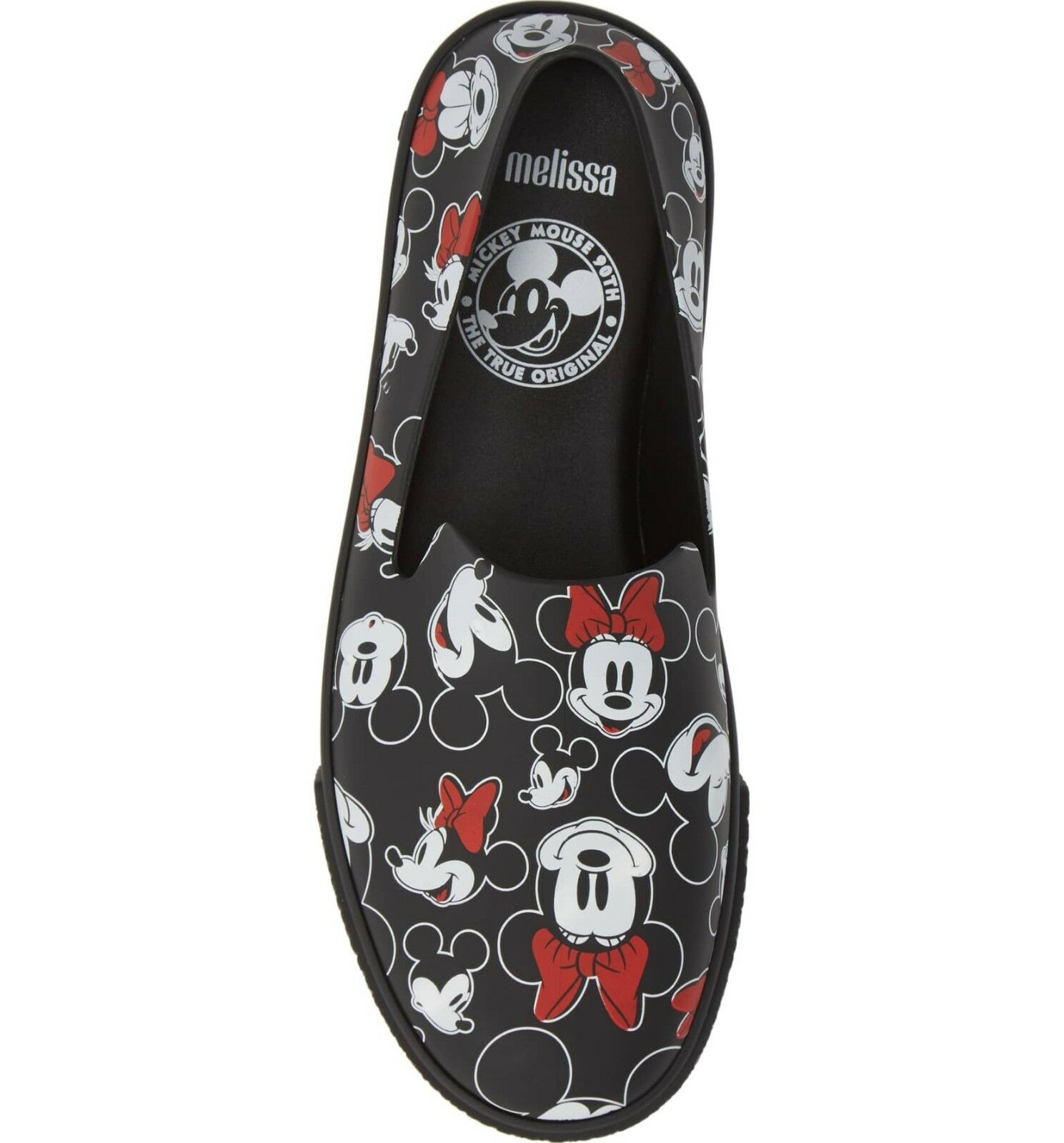 NEW MELISSA Women's Ground Mickey Minnie Mouse Disney Flats Slip On Sneaker sz 8