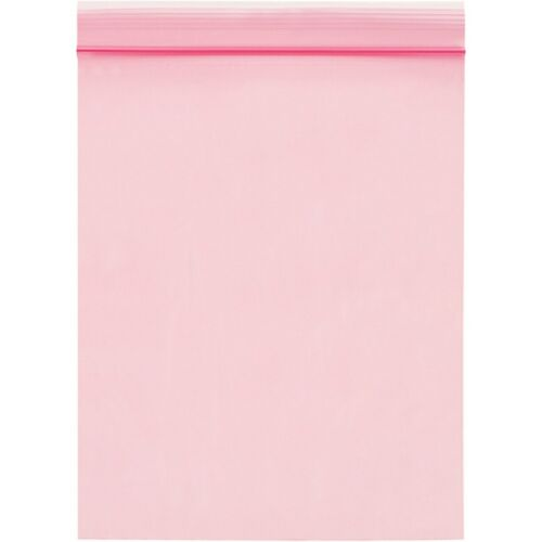 """8/"""" x 8/"""" Anti-static Pink Zip Lock Reclosable Zipper Top 4 Mil Anti Static Bags"""