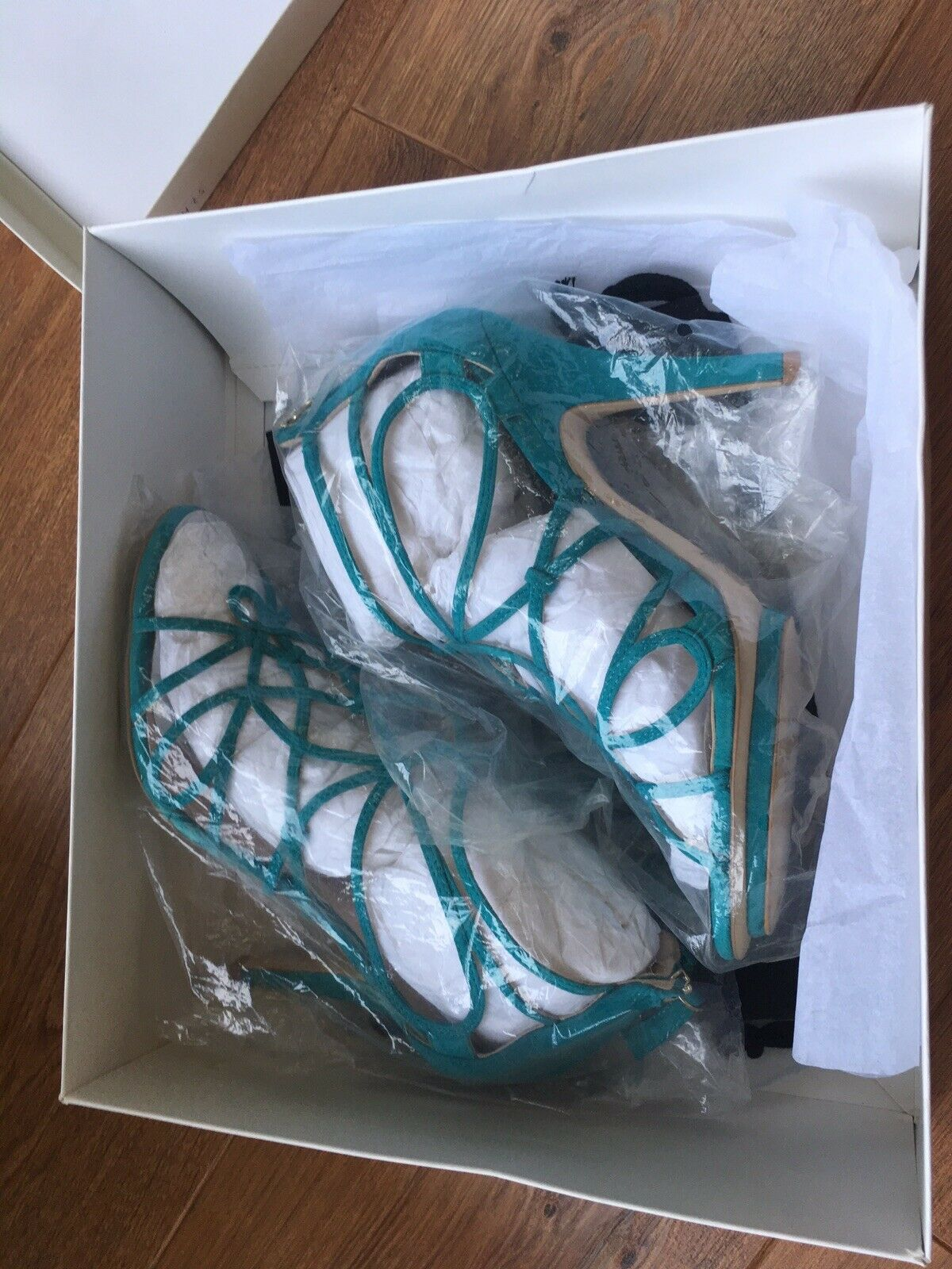 Reiss Summer Sandal Turquoise Size 39 UK Size 6