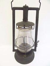 Antique Old Metal Black C.T. Ham MFG Co No 0 Clipper Tubular Barn Lantern Lamp