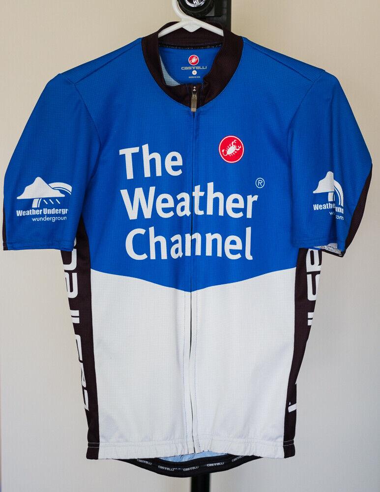 Castelli Training Short Sleeve Jersey,Men's, Medium, Team Weather Channel