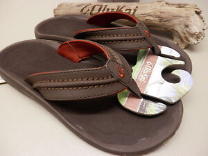 69fc92494ec01 Image is loading OLUKAI-MENS-SANDALS-HOKUA-DARK-JAVA-SIZE-9