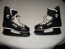 VINTAGE BAUER PRO PANTHER ICE HOCKEY SKATES W/ ANKLE GUARDS MEN'S SIZE 8 NICE !