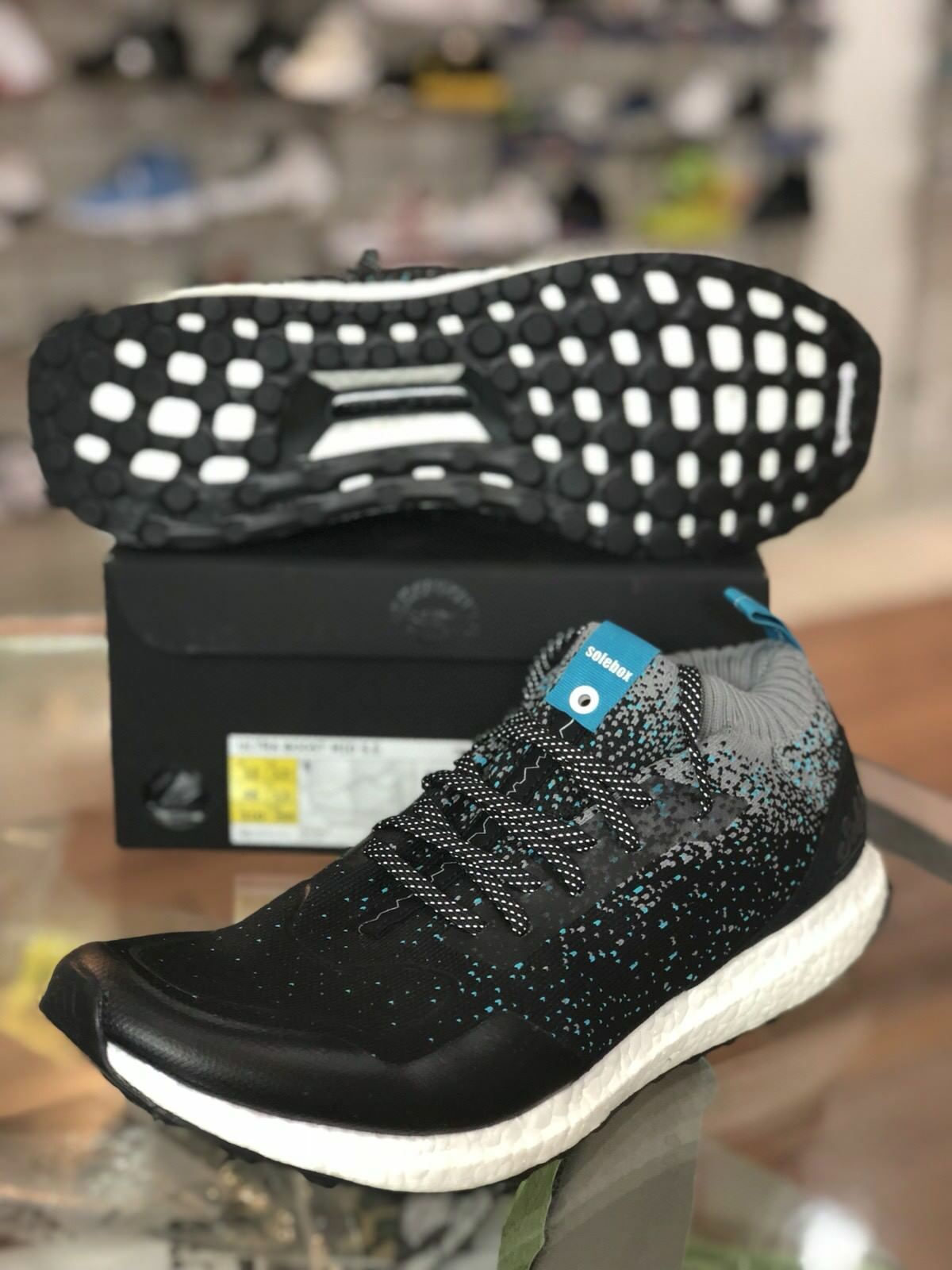 ADIDAS ULTRA BOOST MID S.E. GREY SOLEBOX PACKER SHOES BLACK GREY S.E. BLUE CM7882 Size 13 c5f512
