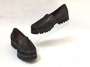 Donald-J-Pliner-Rio3-Women-039-s-Black-Silver-Slip-On-Loafers-MISMATCH-Size-5-amp-6
