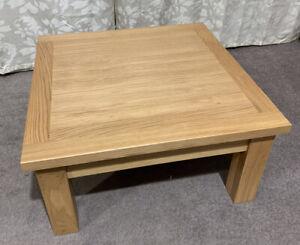 Large Square Oak Coffee Table Ebay