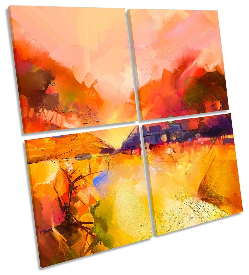 rot Landscape Abstract MULTI CANVAS Wand KunstWORK Square Kunst