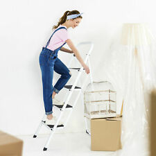4 Steps Ladder Folding Anti Slip Safety Tread Industrial Use 300lbs Load Stable