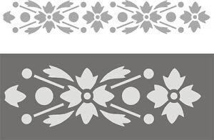 Schablonen-Dekorschablone-Wandschablone-Malerschablonen-Borduere-Bluetenband