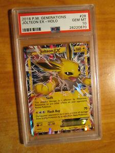 PSA-10-Pokemon-JOLTEON-EX-Card-GENERATIONS-Set-28-83-20th-Anniversary-Ultra-Rare