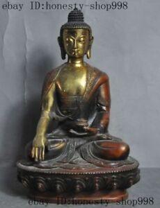 Old Tibet buddhism Fane bronze gilt Sakyamuni Shakyamuni Amitabha Buddha statue