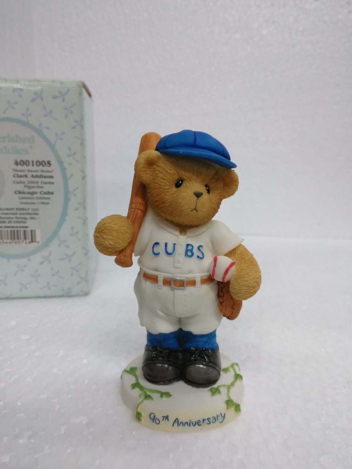 Clark Addison Cubs 2004 Game 90th Anniversary Figurine Cherished Teddies