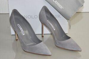 ffcfc468dffba New Manolo Blahnik BB 105 Pale Light Grey Suede Pumps Heels Shoes 40 ...