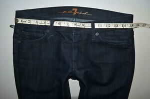 7-for-all-mankind-Swaroski-straight-JEANS-size-27-uk-8-10-32-034-leg-womens-ladies