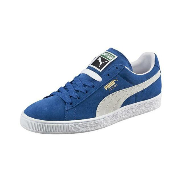bas prix b098c 02cb7 PUMA Suede Classic Shoes Olympian Royal Blue White Casual Men SNEAKERS  352634-64 13