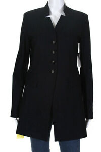 Tristan-Womens-Notched-Collar-Button-Down-Jacket-Black-Size-Extra-Large