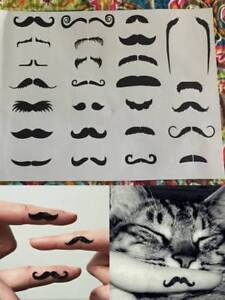 Fingerstache-Finger-Moustache-Tattoos-Photo-Booth-Costume-Party-Mo-Movember-Fun