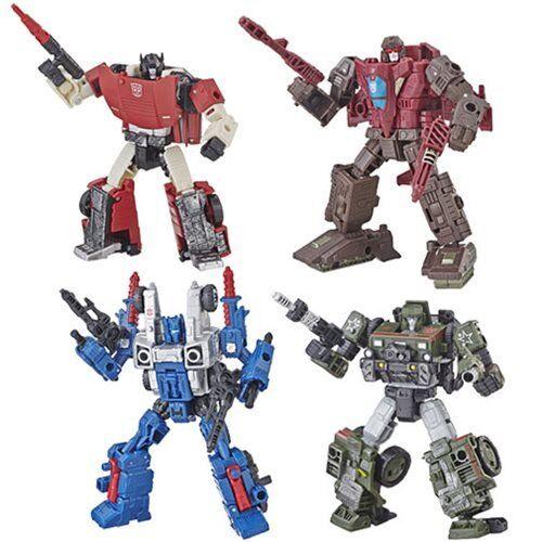 Transformers la guerre pour Cybertron Siège Deluxe Cog Hound Sideswipe /& skytread