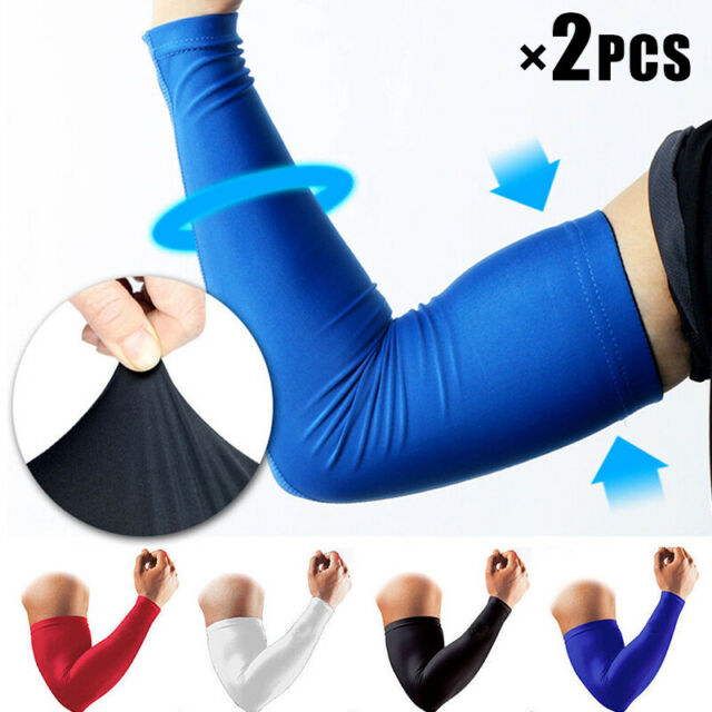1x//1pair Elbow Arm Sleeve Support Elastic Elbow Protect Pad Basketball Gym Sport