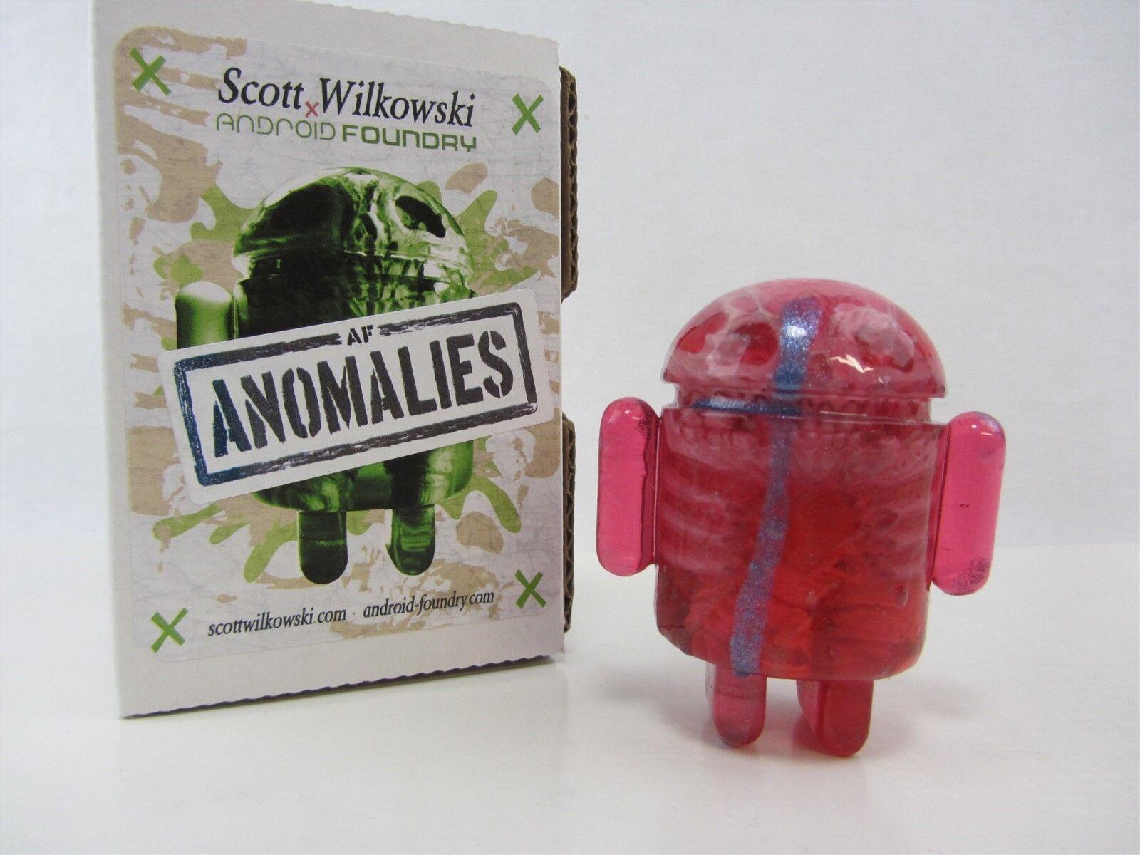 Scott Wilkowski Infected Android anomalies résine rose avec bleu foncé Splat Gouttes