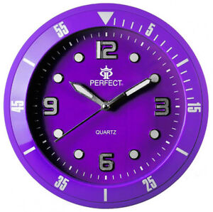 PERFECT-Designer-039-s-Wall-Clock-Silent-Sweep-Second-Hand-PURPLE