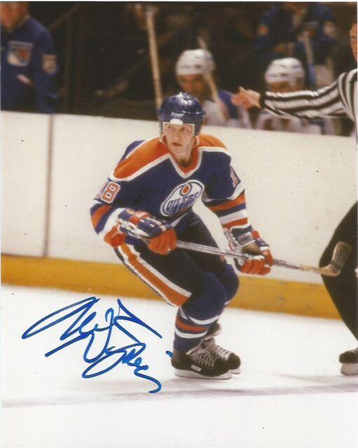 Edmonton Oilers Mark Napier Autographed Signed 8x10 Photo COA