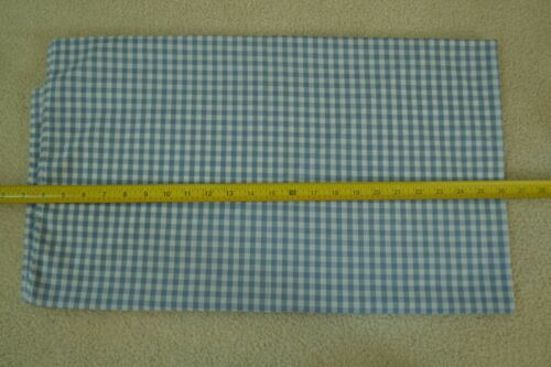 """M5850 Blue /& White Cotton Gingham 44/"""" Wide By-the-Half-Yard 1//4/"""""""