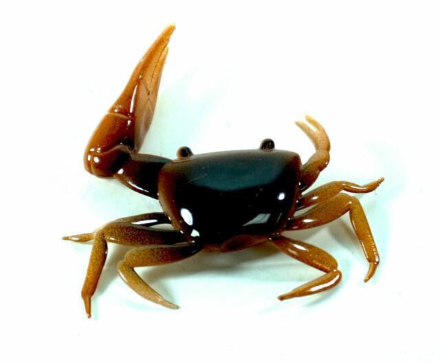 "Almost Alive Artificial Soft Plastic Fiddler Crab 2/"" Brown//Orange 16 Pk"