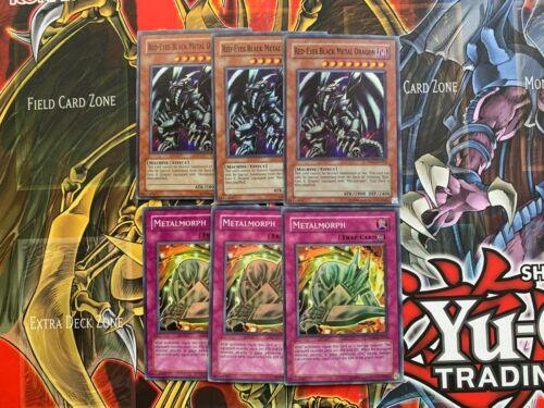 PP01-EN015 /& PP01-EN014 x1 Red-Eyes Black Metal Dragon /& Metalmorph Super NM