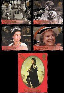 Queen-Elizabeth-II-Golden-Jubilee-set-of-5-mnh-atamps-2002-Gibraltar-896-900