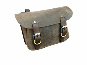 cuir-synthetique-marron-traditionnel-Sac-selle-equitation-monter-a-cheval