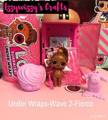 LOL Surprise FIERCE Under Wraps Series 4 Wave 2 ~ Color Changer ~ UNUSED