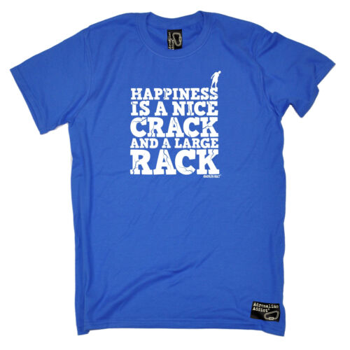 Happiness Is A Nice Crack Large Rack T-SHIRT rock climbing funny birthday gift
