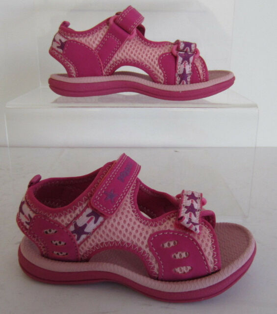 1a42b04c2166 Clarks Girls Star Games Pink Riptape Doodles Sandals F Fitting UK 4 ...