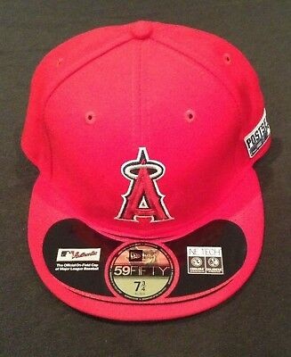 5a16e2295 LOS ANGELES ANGELS 2014 MLB POSTSEASON NEW ERA FITTED HAT 7 3/4 ANAHEIM NEW