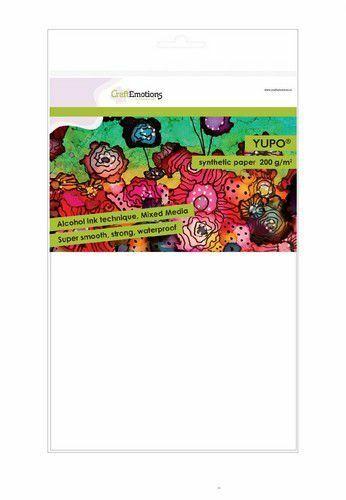Yupo® synthetisches Papier 5 Bogen DIN A4 für Alcohol Ink weiß Mixed Media