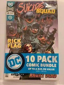 DC Comics 10 pack, Suicide Squad 49, Superman 6, 10 High Grade DC Comics Sealed
