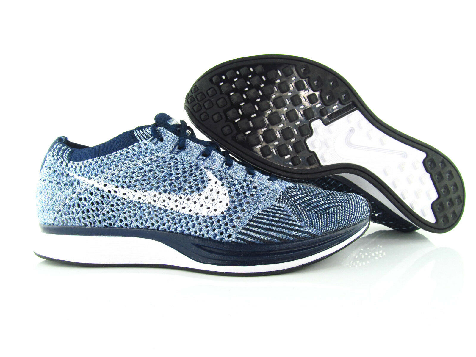 Nike Flyknit Racer Game Royal Navy Blue Trainers Running New Eur_36.5 - 38.5