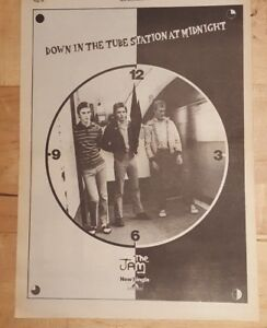 Jam-Down-tube-station-at-midnight-1978-press-advert-Full-page-28-x-39-cm-poster
