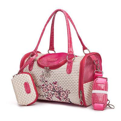 Pet Dog Cat Carrier Purse Airline Handbag Small Animal Travel Sided Kennel Bag
