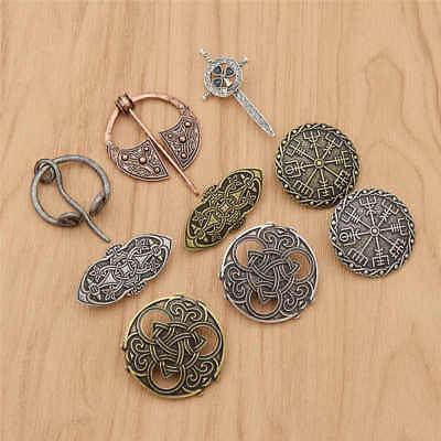 Badge Celtic Style Bronze Raven Brooch Viking