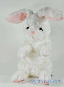 Gund Easter Bunny Rabbit Plush Stuffed Animal White Rabbit Pink Ears