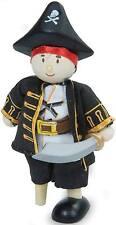 Le Toy Van Budkins Wooden Leg Captain Cap'N Poseable Pirate Kids Doll BNIP