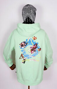 Huf-Sweatshirt-Hooded-Pullover-Hoodie-Come-Down-Triple-Triangle-Neo-Mint-in-M