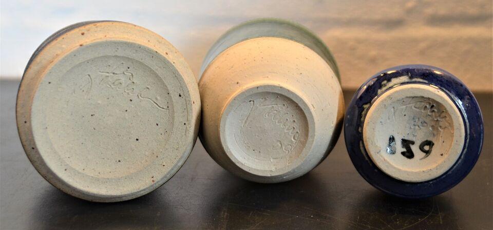 Stentøj, skåle, vase