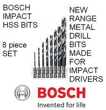 BOSCH NEW IMPACT CONTROL HSS METAL 1/4 HEX IMPACT DRILL BITS