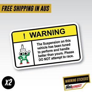 WARNING-SUSPENSION-x2-JDM-CAR-STICKER-DECAL-Drift-Turbo-Euro-Fast-Vinyl-0611