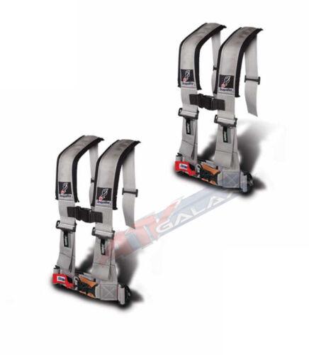 "Dragonfire Seat Belt Harness 4 Point 3/"" Padded Grey Pair Yamaha Can Am Polaris"